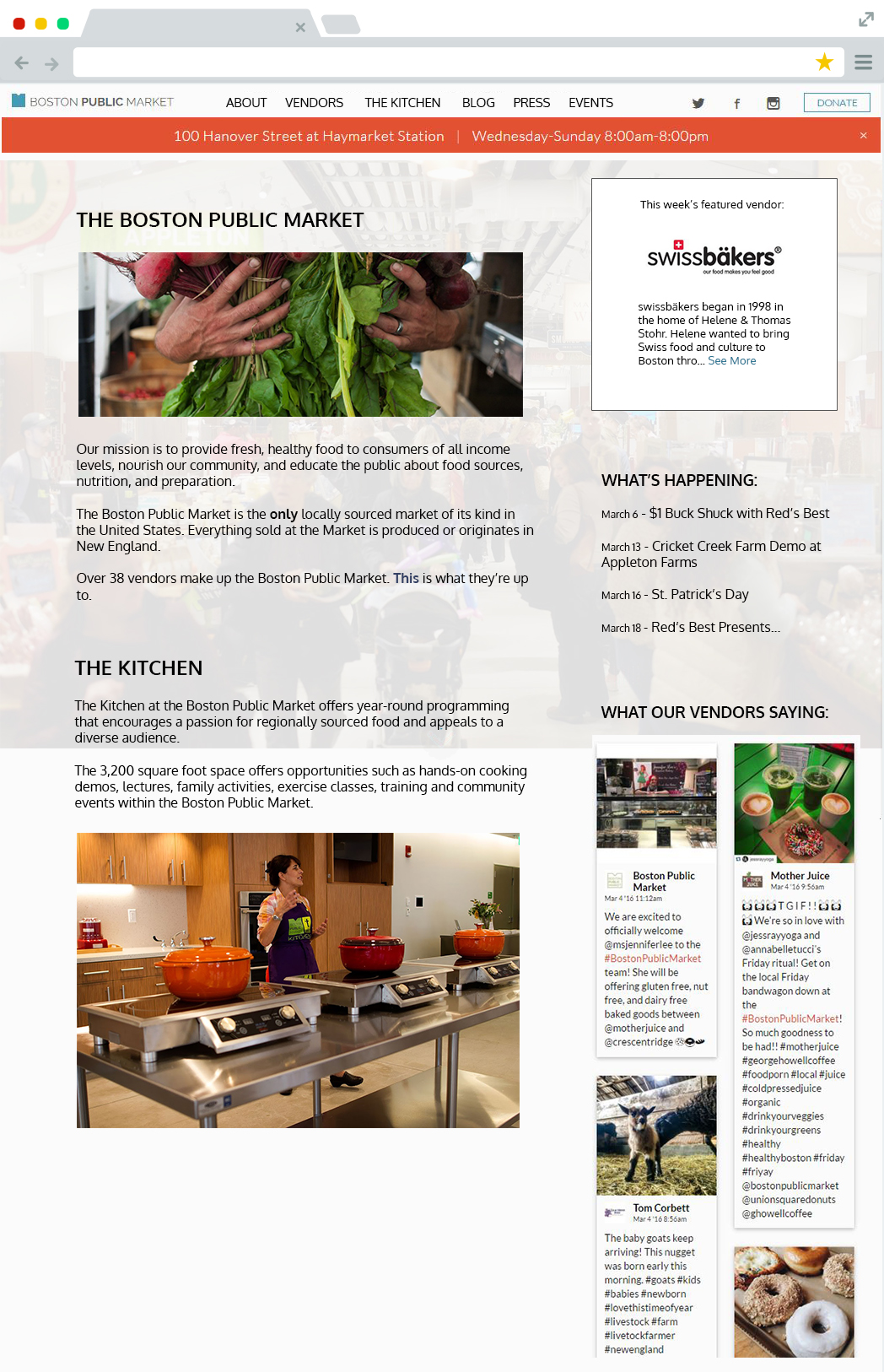 Boston Public Market Proposed Homepage Redesign